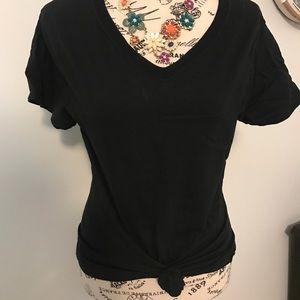 Barely There Black Tee